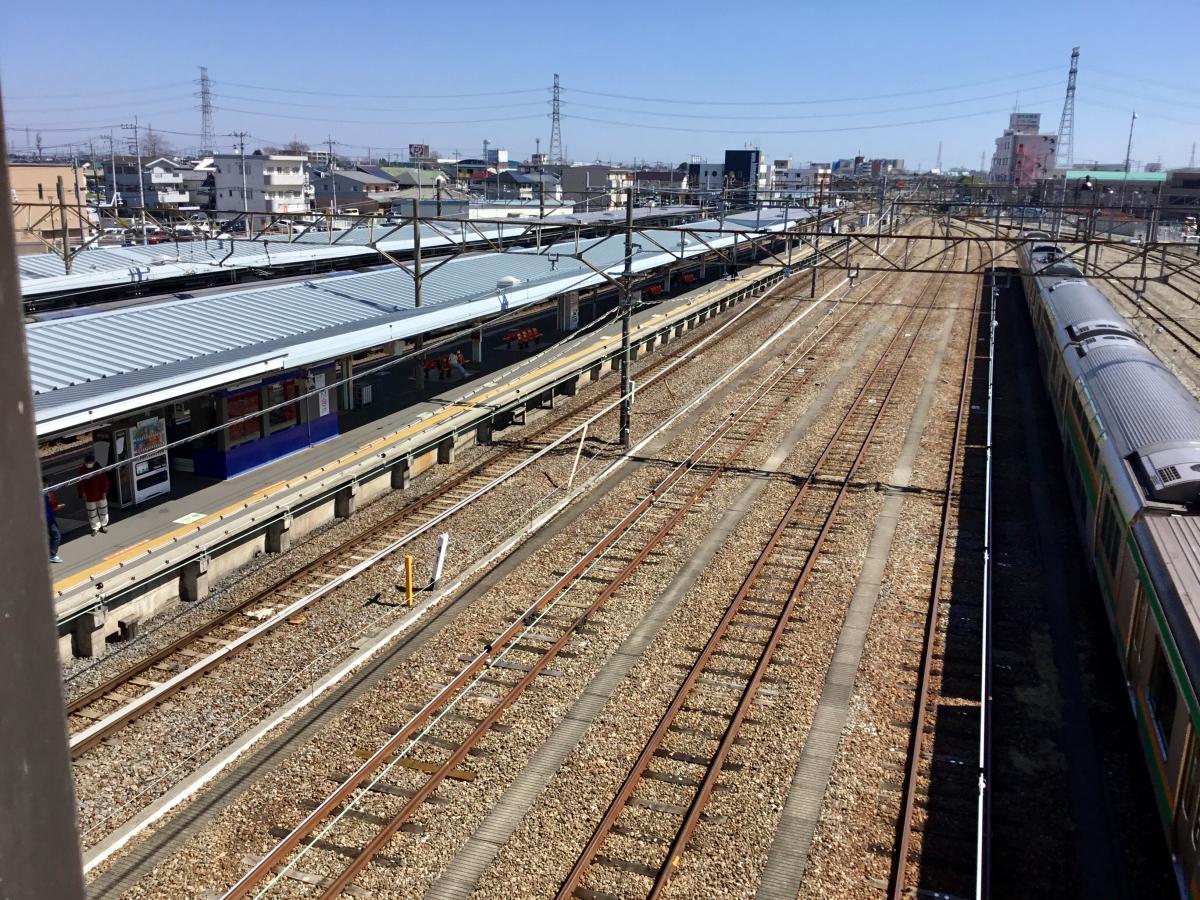 籠原駅のプラットホーム