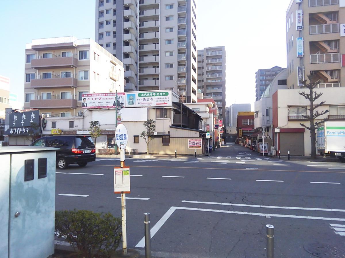 東武のバス停の様子