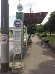 「中入谷」バス停留所