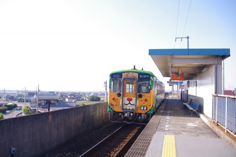 南予キャラクター列車到着