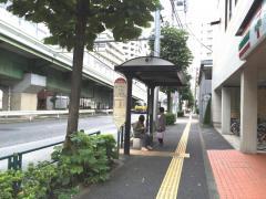 「大森警察」バス停留所