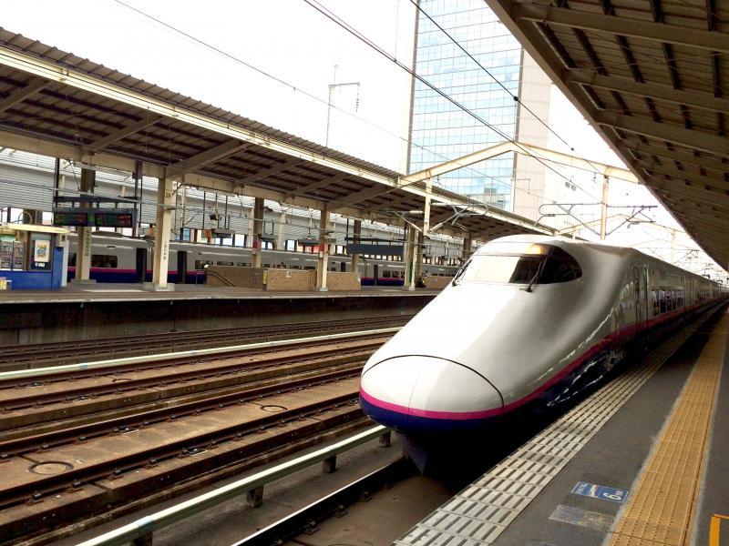 新幹線郡山駅のホーム。