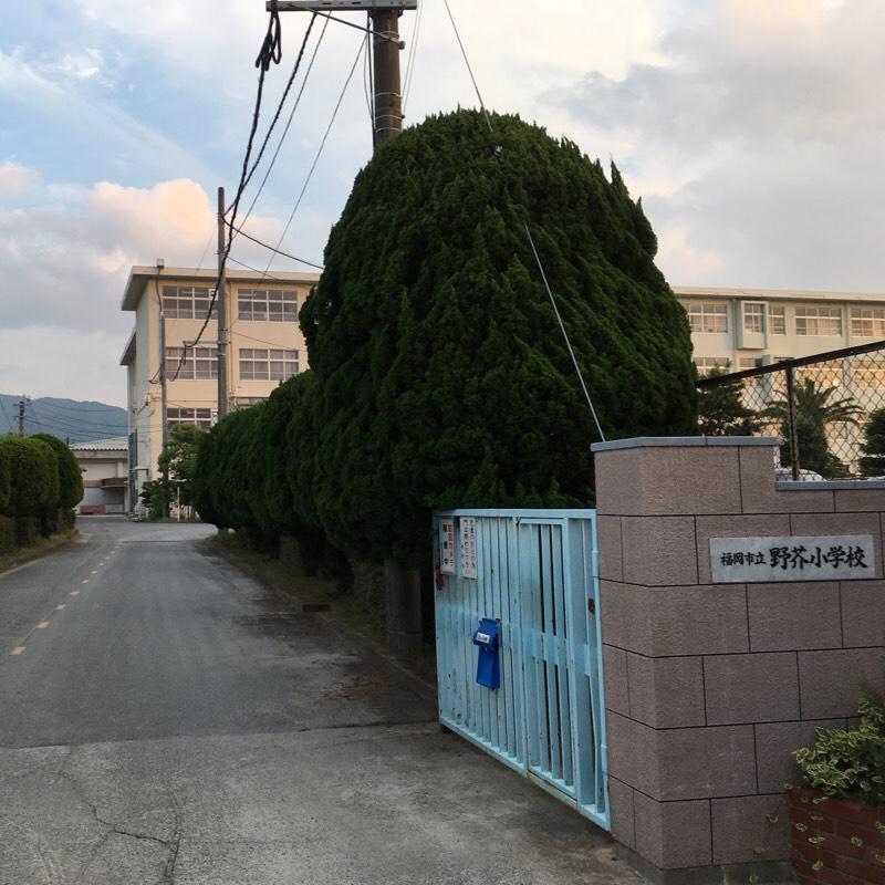 野芥小学校(福岡市早良区)の投...