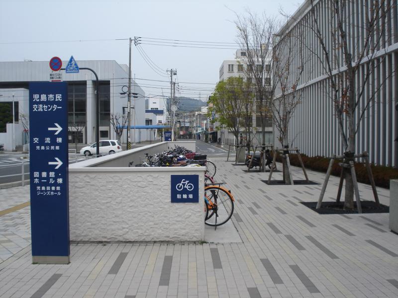 図書館の駐輪場