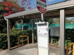 「加茂川公園」バス停留所