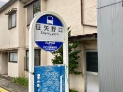 「征矢野口」バス停留所
