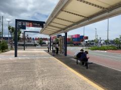 「博多港国際ターミナル中央ふ頭」バス停留所