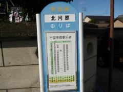 「北河原」バス停留所