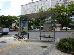 「谷町九丁目」バス停留所