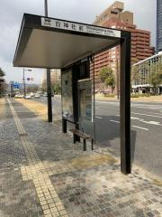 「白神社前」バス停留所