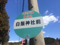 「白髭神社前」バス停留所