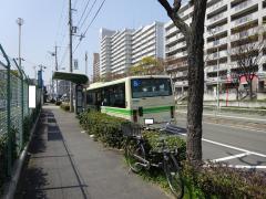 「酉島車庫前」バス停留所