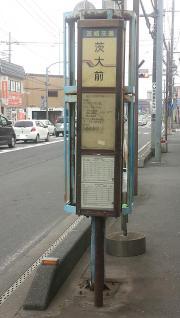 「茨大前」バス停留所