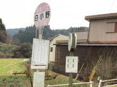 「白小野」バス停留所