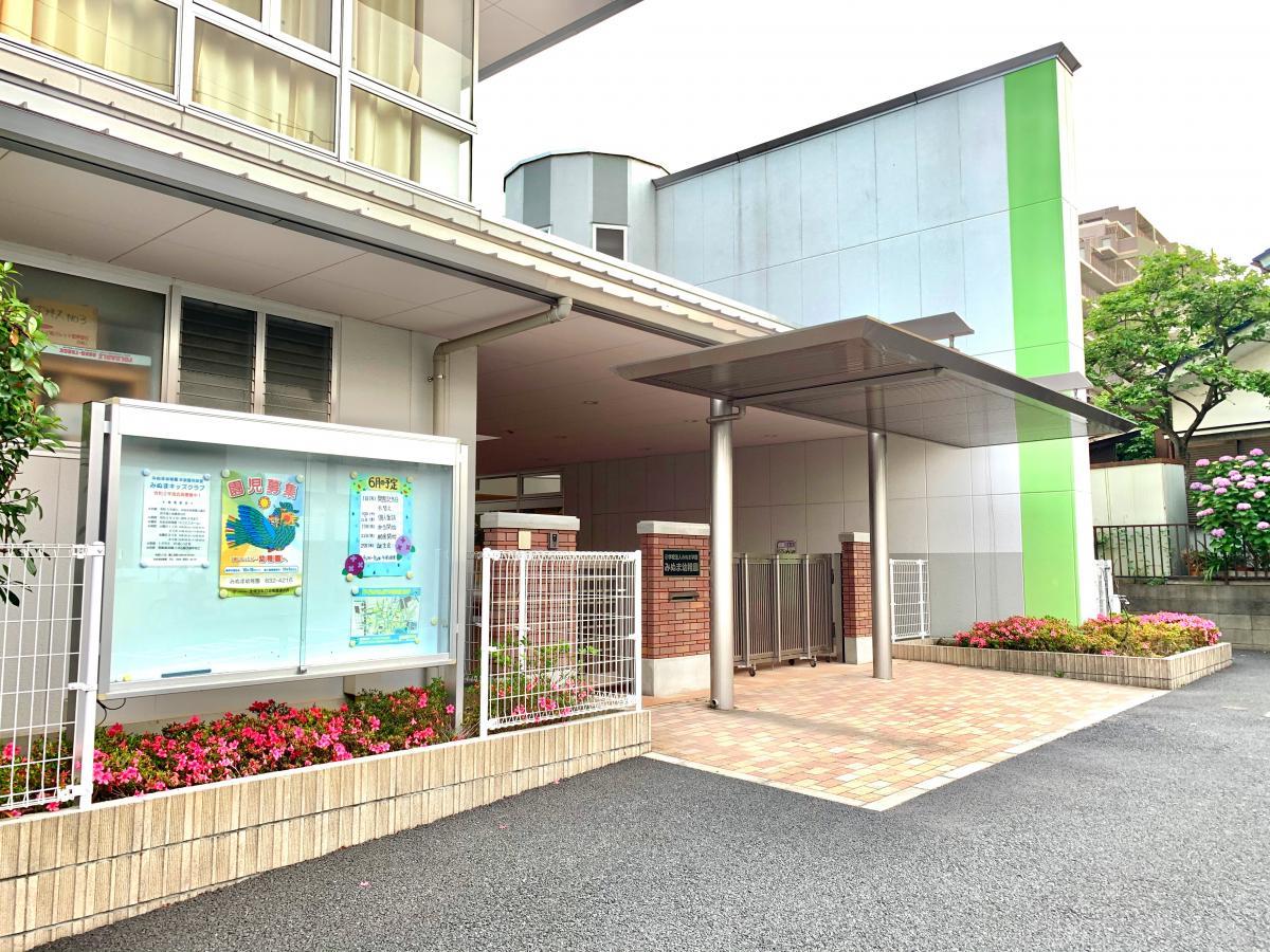 みぬま幼稚園の東側からの入口外観