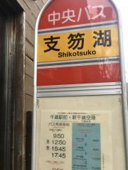 「支笏湖」バス停留所