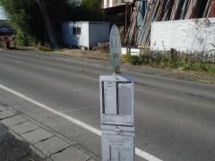 「新谷中」バス停留所