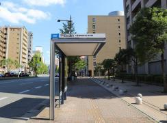 「平和台通り」バス停留所