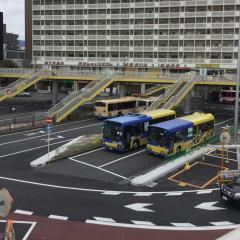 「JR茨木駅」バス停留所