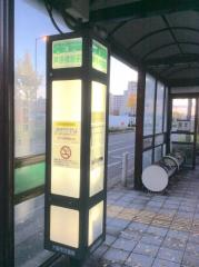 「芦原橋駅前」バス停留所